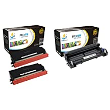 Catch Supplies TN580 High Yield & DR520 Premium Combo Replacement Toner Cartridge and Drum Unit Compatible with Brother HL-5240 5250DN, MFC-8460N 8660DN, DCP-8060 8065DN Printers |2 TN-580X, 1 DR-520|