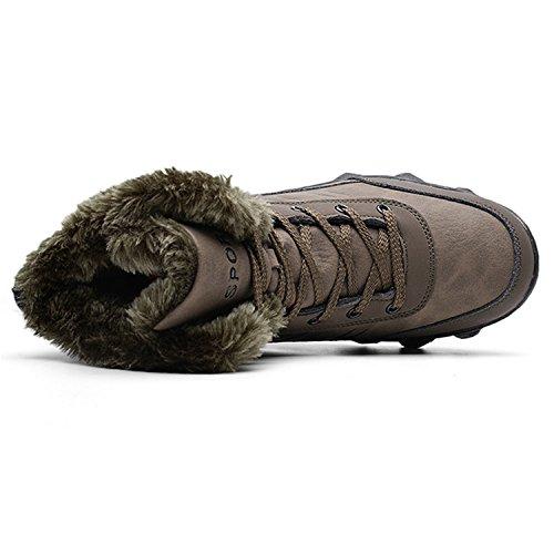 Snow Boots Gomma Stivaletti Per Caviglia run Marrone Alla Winter Mens L Fodera In Pelliccia Uomo vfOtqIn