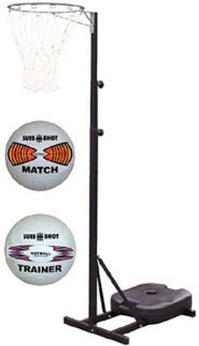 Sure Shot Portable Netball Unit with 2 Balls 66810