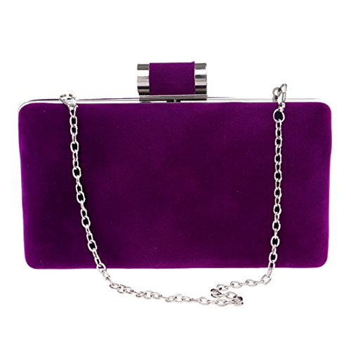 Mano Con Tracolla In Da color Waveni Pelle Borsa Scamosciata Donna Purple A Red Tq1IF