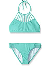 Billabong Big Girls' Sol Searcher Strappy Hi Neck Swim Set
