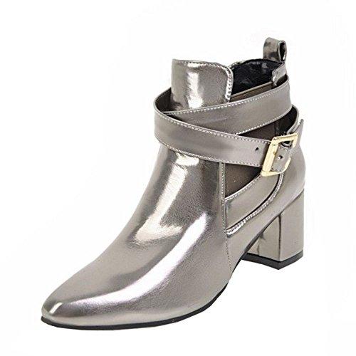 KemeKiss Strap Bootie On Monk Color Gun Slip Fashion Women rw7ZYxqTrA