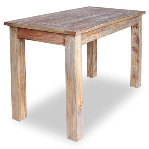 Tidyard Dining Table Handmade Vintage Solid Reclaimed Wood Home Decor with Sturdy Top Stable Legs 47.2