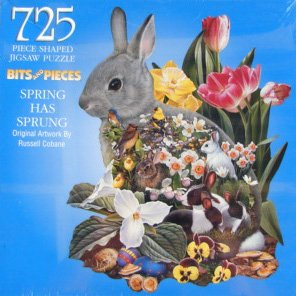 725pc. Shaped Spring Has Sprung Bunny Puzzle