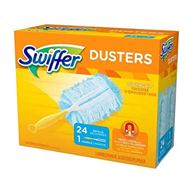 Swiffer Dusters Dusting Kit, 1 Handle & 24 Duster Swiffer Refills
