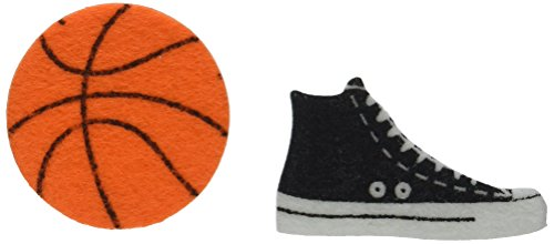 - Darice FLT-1019 Felties Felt Stickers - Basketball - 52Piece Basketball Stickers