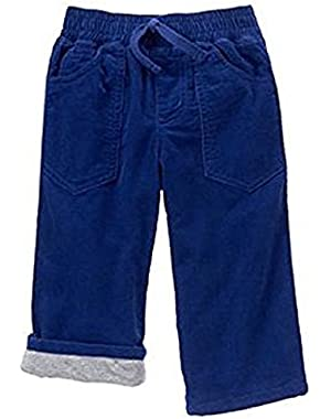Baby Boy's Lined Corduroy Pants (12-18 Months, Deep Blue)