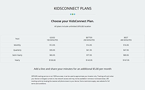 KidsConnect GPS Tracker Cell Phone Wearable for Kids and Children All in One Security Solution, White
