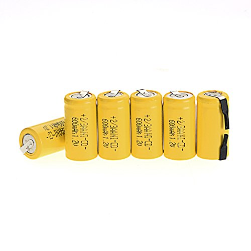 Odstore AA Ni-Cd 1.2V 2/3AA 600mAh Rechargeable Battery - 6pcs (600 Nicd Battery)