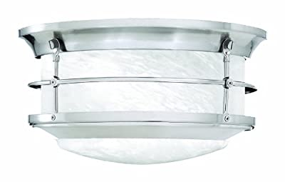 Thomas Lighting SL928378 Newport Outdoor Ceiling Light, Brushed Nickel