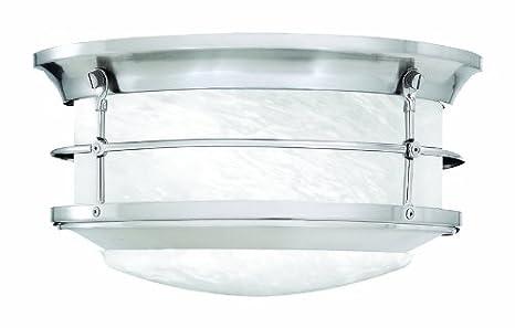 Superior Thomas Lighting SL928378 Newport Outdoor Ceiling Light, Brushed Nickel