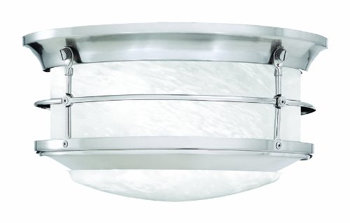 Thomas Lighting SL928378 Newport Outdoor Ceiling Light, Brushed Nickel ()
