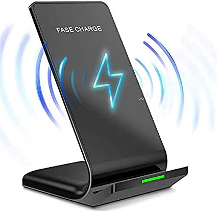 Samsung Galaxy Note 10+//S10+//S10E//S9+//S8 Plus//S7 Edge and More Black Universal Fast Wireless Charger Stand Qi-Certified 10W//7.5W Charging for Apple iPhone 11 Pro Max//XS MAX//XR//X//8 Plus