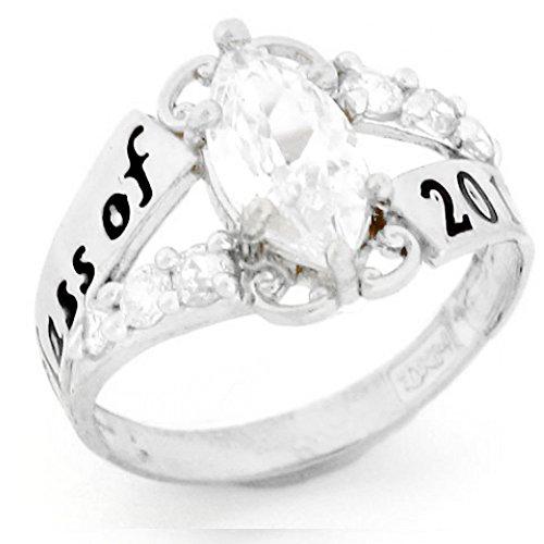 14k Gold Simulated Birthstone 2019 Class Graduation Ring