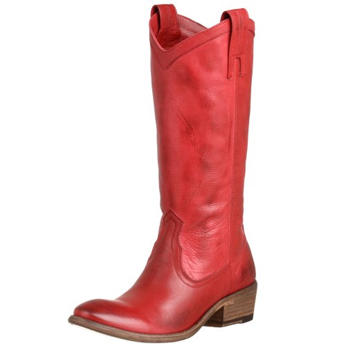 Carson Women's Grain Burnt Red Soft Pull Leather Boot Full Antique FRYE On xT5UwxF