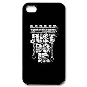 RebeccaMEI Custom Your Own Personalised Just Do It Iphone 4 4S Best Durable Hard Cover Case