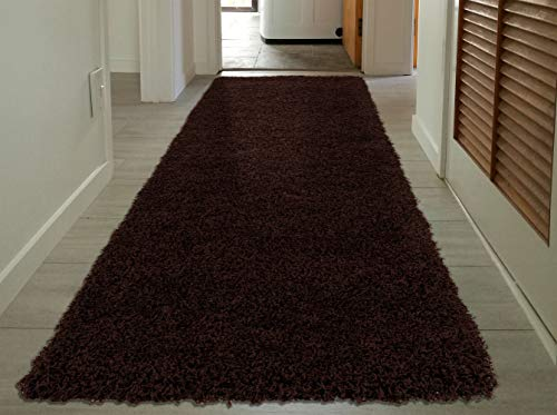 Sweet Home Stores Cozy Shag Collection Solid Shag Runner Rug, 2