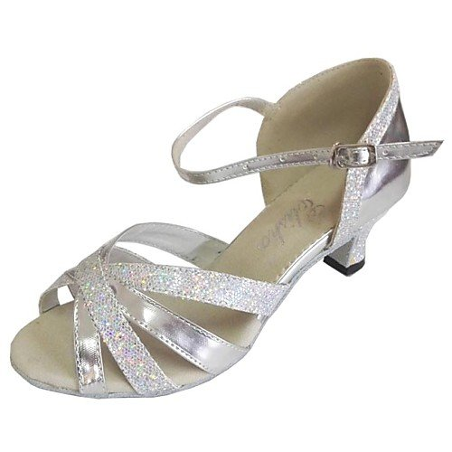 Q T Women's Customized T Sandals Silver Shoes Heel Dance Silver 5rna5U