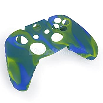 Camo Colorful Silicone Protective Skin Case Cover for XBOX ONE Game Controller Lemon Yellow and Blue