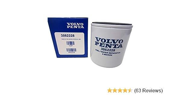 OEM Volvo Penta Gasoline Spin-On Fuel Filter 1994-2007 V6//V8 Models 3862228