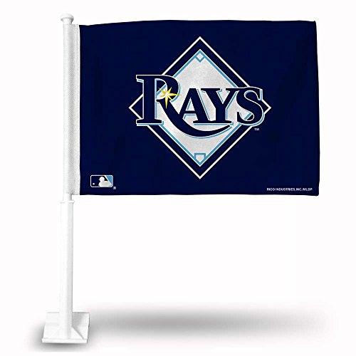 MLB Rays Secondary Design Car Flag, 8 x 1, Logo Color