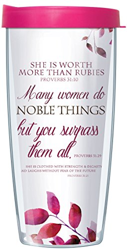 Proverbs Woman Worth Rubies Tumbler product image