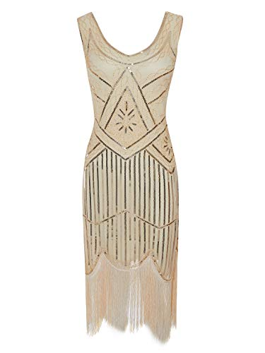 1912 Dress Costumes - ECOPARTY Women 1920s Gatsby Sequin Fringed
