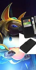 NEECELL GIFT forCITY // Billetera de cuero Caso Cubierta de protección Carcasa / Leather Wallet Case for Sony Xperia Z2 D6502 // Blanco mullido