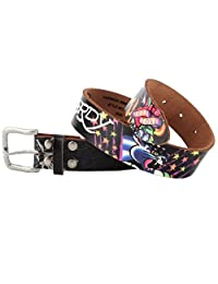Ed Hardy EH3104 True Love Panther Girls-Leather Belt