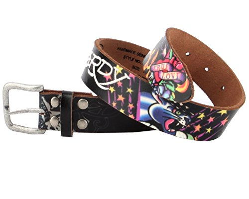 (Ed Hardy EH3104 True Love Panther Girls-Leather Belt )