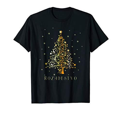 (Russian Christmas Tree T-shirt Russia Ornament Decoration)