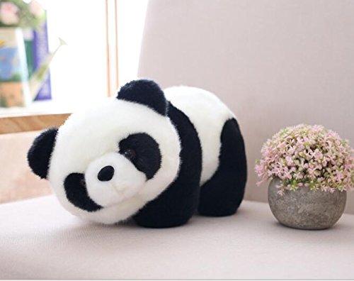 SunnyGod Plüschtiere Panda Mignon Jouet en Peluche Panda Kids Toy décoration de la Maison (Blanc et Noir, 25cm)