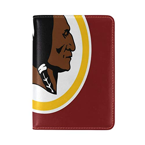 (Passport Holder Washington Redskins Clip Art Passport Cover Case Leather One Pocket for Women/Men Travel)