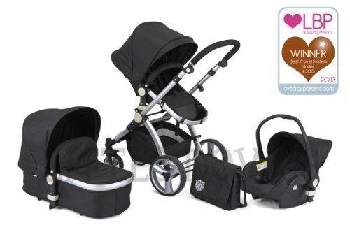 CARRERA SPORT 3.In-1 Baby Reise System SCHWARZ Kinderwagen Sportwagen Buggy Trageschale