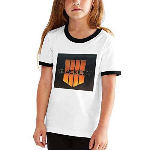 (Teen Boys' Short Sleeve Crewneck Tee - Youth T Shirt, Blackout-CoD-Black-Ops-4)