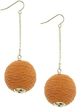 TRENDY FASHION JEWELRY THREAD WRAPPED BALL CHAIN DROP EARRINGS BY FASHION DESTINATION