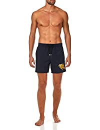 Prehistoric Fish Placed Embroidery Swim shorts