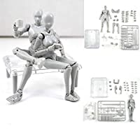 Uranny Body Kun DX Set Male & Female Action Figure Model Set for SHF Body Kun Doll PVC Body-Chan DX Set 2.0