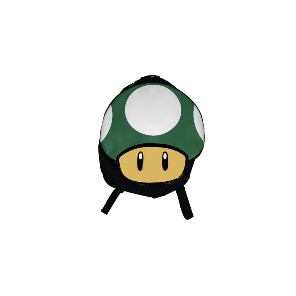 Nintendo Super Mario Bros One Up Mushroom Video Game Backpack