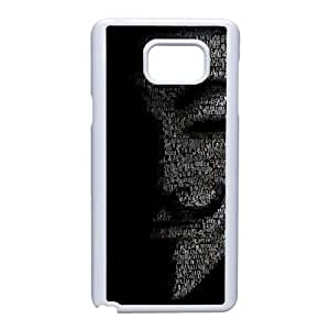 Generic Design Back Case Cover Samsung Galaxy Note 5 Cell Phone Case White V for Vendetta Xsrxd Plastic Cases