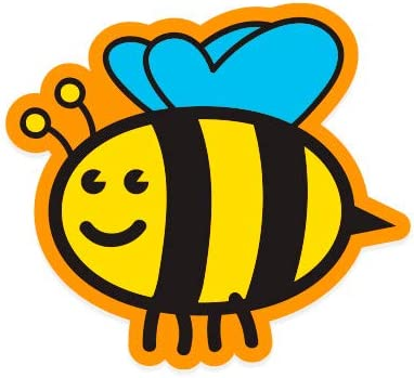 GT Graphics Cute Honey Bee Vinyl Sticker Waterproof Decal
