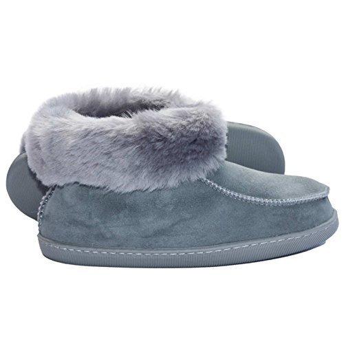 Piel de cordero Zapatillas Mocasines Ewa gris gris