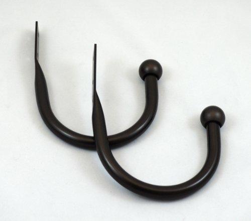 Urbanest Steel Drapery Holdbacks, Set of 2, 5 Colors Available (Bronze)