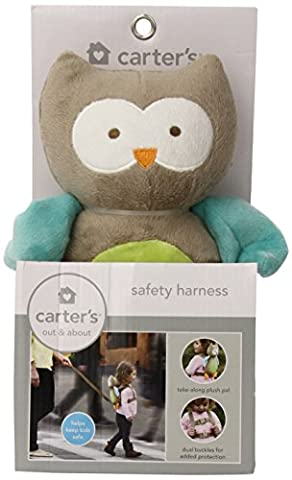 Carter's Toddler Safety Harness, Animal Owl, Tan (Eden Harness)