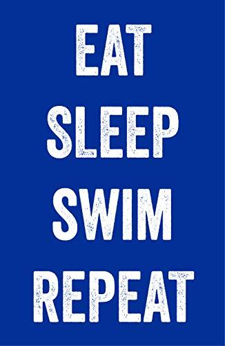 Damdekoli Eat Sleep Swim Poster – 11×17 Inches