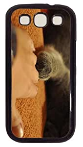 thin case Cat Friendship PC Black case/cover for Samsung Galaxy S3 I9300