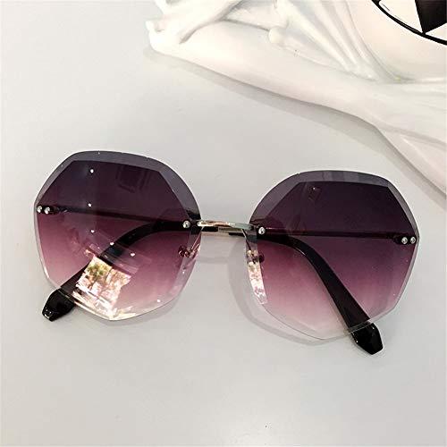 Vintage Sunscreen de sol las Sunscreen de de sol Gafas poligonales sin de la marco Sunscreen gafas NIFG personalidad pBYq0w0