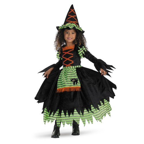 Story Book Witch Costume - Medium (3T-4T) (Witch Girl Costume)