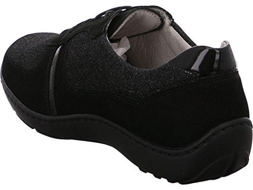 à Waldläufer Schwarz 496032 Chaussures pour femme de 301 001 ville lacets vq1RrYqdw