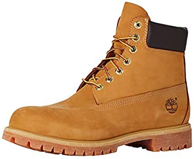 Timberland Men's Men's 6-Inch Premium Waterproof Boots, Wheat Nubuck, 7.5 US